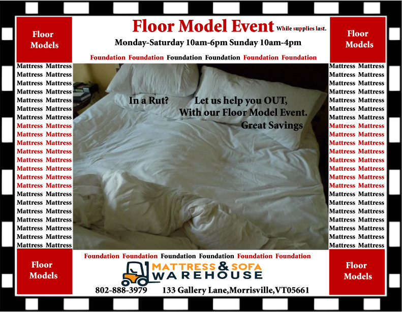In A Rut Shop Our Floor Model Mattress Sale Before Their