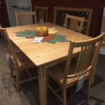 American Heirlooms Oak Rectangular Extension Table Natural Finish