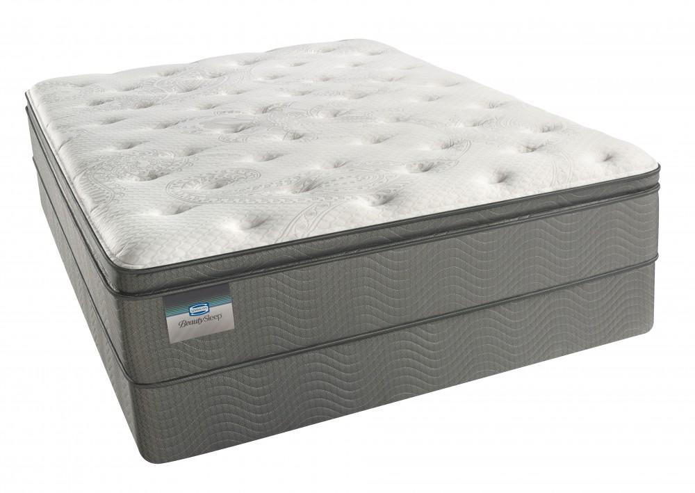 Simmons BeautySleep Keyes Peak Pillow Top Luxury Firm Queen Mattress Set