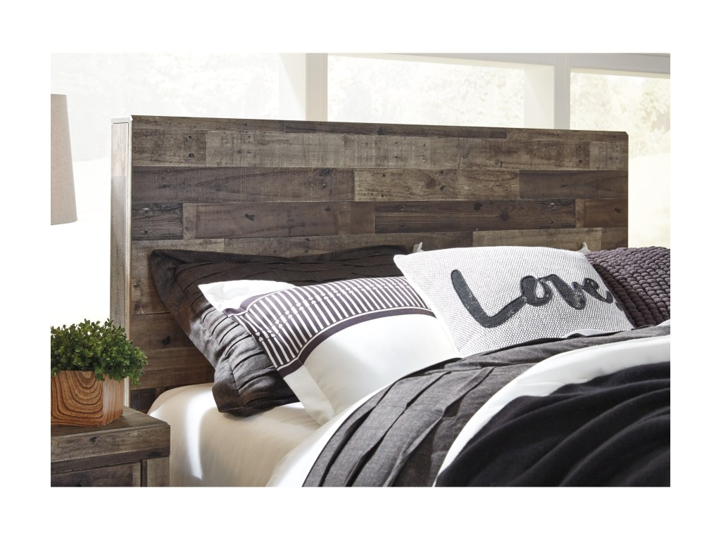 Benchcraft by ashley derekson rustic modern queen storage - Modern queen bed with storage ...