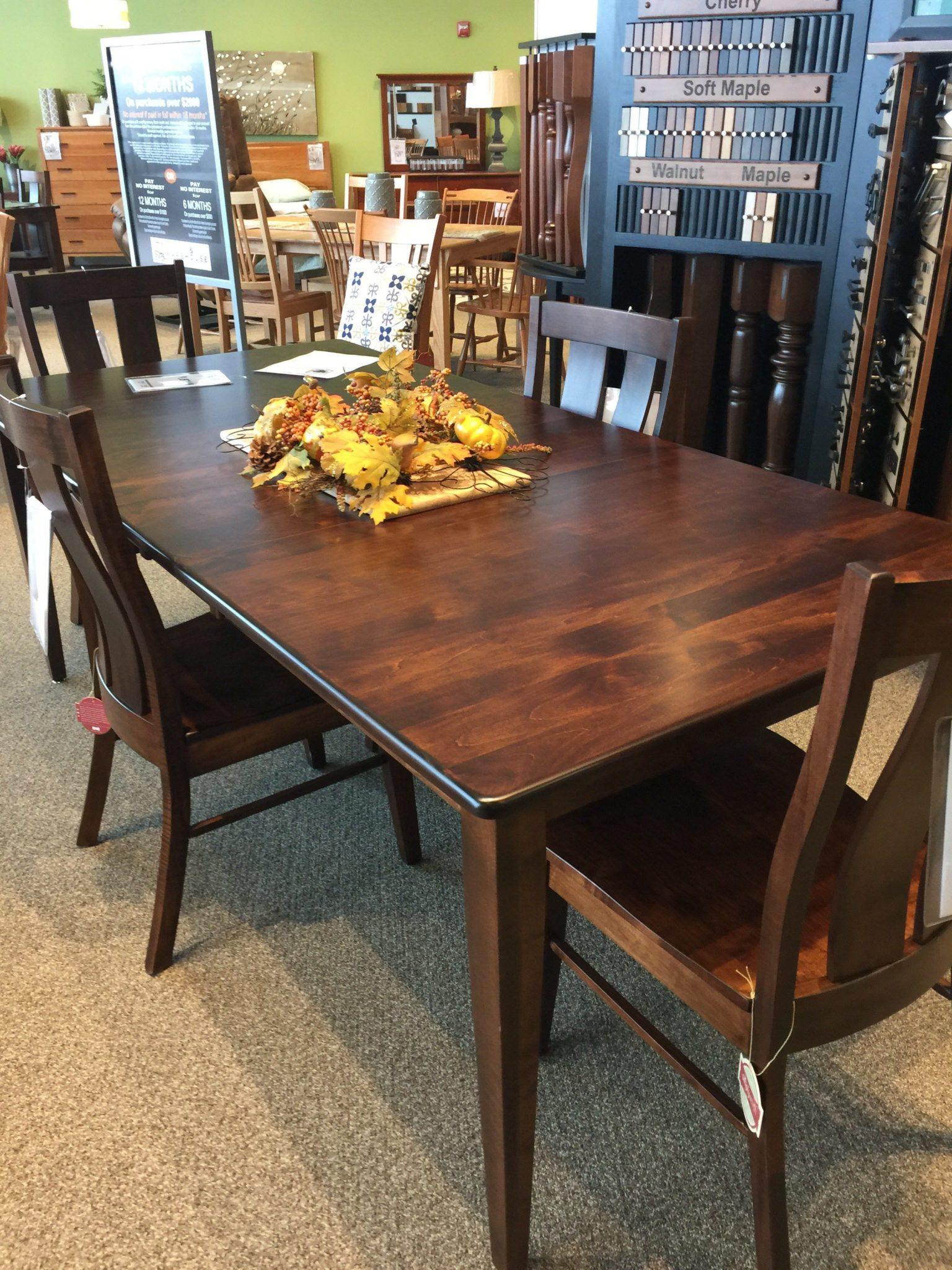 Shenandoah Leg Table Bourbon Stain